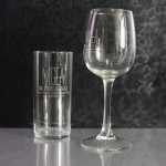 Engraved personalised glasses and wine glasses in Nairobi